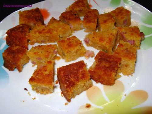Pudding formaggio e pancetta